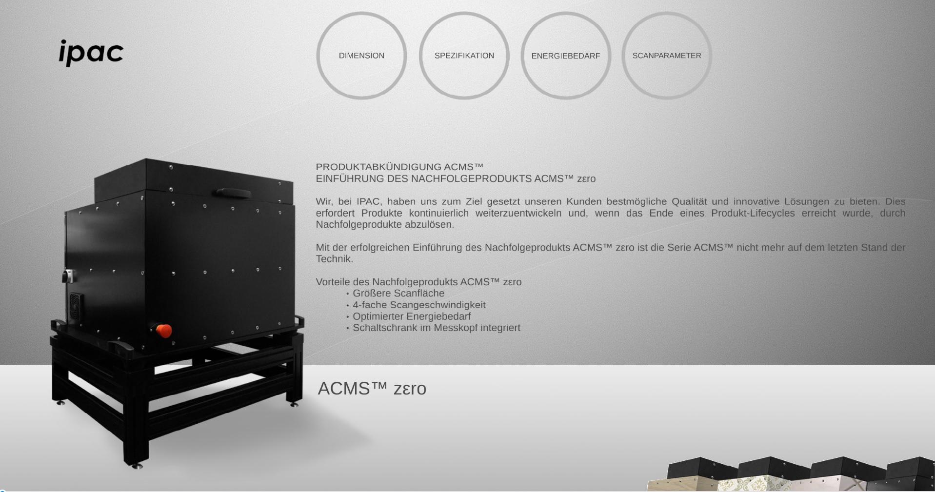 Produktabkündigung ACMS™
