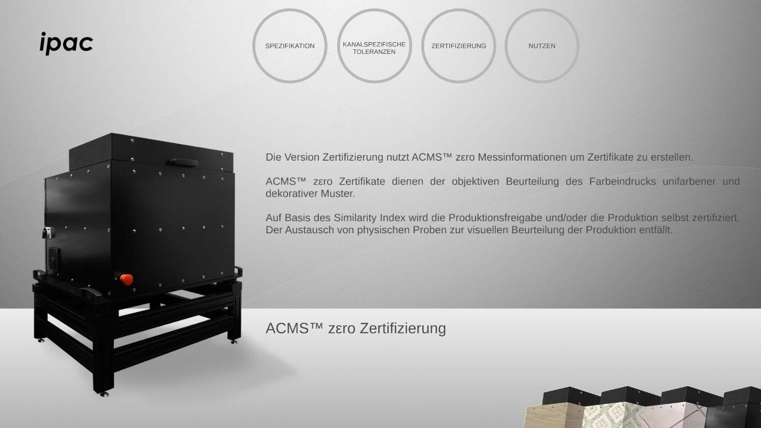 ACMS zero Zertifizierung